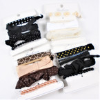6 Pack Elastic Fashion Ponytailers Colors as shown  .56 per set