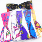 """3"""" Designer Print Look Stretch Headbands Asst Colors (780) 12 per pk    .58 each"""