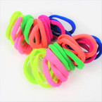18 Pack Soft & Stretchy Elastic Ponytailers Neon Colors .56 per set