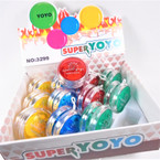 "2.5"" Super Speed Light Up YoYo's 12 per display bx .55 ea"