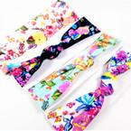 """Trending  2.5"""" Mix Flower Print  Stretch Headbands 12 per pk (336) .58 each"""