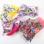 """2.5"""" Stretch Crochet Headbands w/ 4"""" Cutie Girl Bow .56 each"""