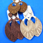 """3"""" New Style Wood Fashion Earrings 3 colors as shown .54 per pair"""