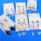 Special Cry. Glass Fashion Earrings Mixed Styles .60 per pair