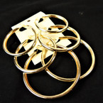 "Popular 3 Pair  Gold Tube Style Hoop Earrings 2""-3"" sizes .54 per set"