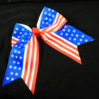 "6"" USA Stars & Stripes Tail Gator Clip Bows .54 each"