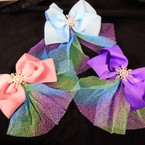 "6"" Popular Theme Bow  Kid's Love It Lace w/ Sparkles  .54 each"