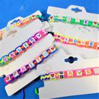Multi Color Macrame In spiritual Saying Black Bracelets .58 each