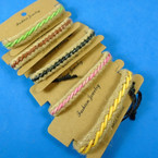 Braided Colored Cord & Jute Rope Teen Bracelets .58 each