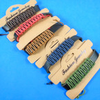 Teen Leather Bracelets w/ Wrapped Colored Cords  .58 each