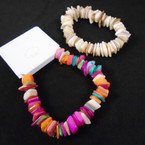 Popular Chipped Stone Stretch Bracelets 2 colors as shown .62 each