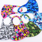 Cool Camo Print Face Masks Washable & Reusable 12 per pk  $1.50 each