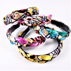 Trendy Multi Style Print Braided Headbands  Mixed Colors .58 each