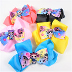 "5"" 2 Layer Gator Clip Bows Cutie Girl Theme Asst Colors .54 each"