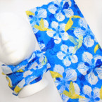 Multifunction Face Mask Scarf Hawaiian Flower Print  (55N2) 10 per pk .75 each