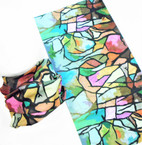 Multifunction Face Mask Scarf Multi Color Print  (55N6) 10 per pk .75 each