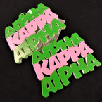 "3 Line 2.5"" Alpha Kappa Alpha Sorority Wood Earrings .56 per pair"