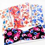 """3"""" Bright Flower Print Stretch Headbands Asst Colors (1089) 12 per pk    .58 each"""
