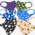 Flower Theme  Print Face Masks Washable & Reusable 12 per pk  $1.50 each