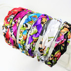 Trendy Padded Braid Style  Fashion Headbands Asst Colors .56 ea