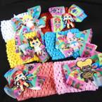 """2.5"""" Stretch Crochet Headbands w/ 3.5"""" Cutie Girl Bow .56 each"""