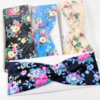 "Trending 3"" Stretch Headband Multi Color Flower  Print  (1158)   .58 each"