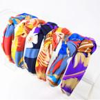 "Trendy 1.5"" Fabric Fashion Headbands Mix Prints  (2854) .56 ea"