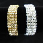 SPECIAL 4 Line Stretch Rhinestone Tennis Bracelets Gold/Silver  .49 each