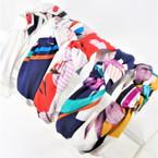 "Trendy 1.5"" Fabric Fashion Headbands w/ Knot Fashion Pattern   .56 each"