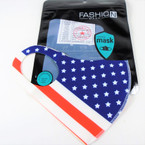 USA Flag Print Face Masks Washable & Reusable 12 per pk  $1.50 each