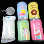 "3.25"" Tall Soda Can Cool Dessert Theme Keychain  w/ Wet Wipes .65 each"
