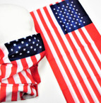 Multifunction Face Mask USA Flag  Theme (74310) 10 per pk .75 each