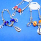Pandora Style Charm Bracelets Silver w/ Sil. Cowrie Shell   .56 each