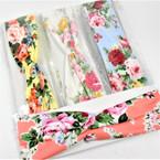 """Trending  2.5"""" Mix Flower Print  Stretch Headbands 12 per pk (374) .56 each"""
