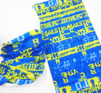 Multifunction Face Mask Scarf Blue/Yellow Formula One Print   10 per pk .75 each