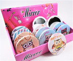 Colorful OWL  Theme Round DBL Compact Mirror in Display (011) .60  each