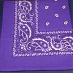 Bandana Purple DBL Sided Printed 100% Cotton .60 each