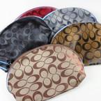 """5"""" X 8"""" Designer Look """"C"""" Print Zipper All Purpose Bag Asst Colors .65 ea"""