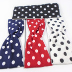 "Trending 3"" Stretch Headband Poka Dot Primary 4 colors per dz   .58 each"