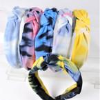 "1.5"" Tye Dye Fabric Fashion Headbands w/ Knot (2879)  .56 each"