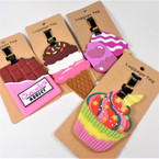 """4"""" Sweet Tooth  Theme  Luggage Tags 12 per pk .58 each"""