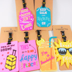 "4"" FUN Theme  Luggage Tags Asst as shown 12 per pk .58 each"