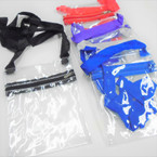 "5.5"" X 7.5"" Transparent Zipper Bag w/ Long Strap .58 each"