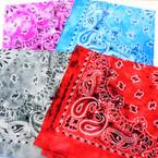 Bandana Stone Washed Tye Dye DBL Sided Printed 100% Cotton .60 each