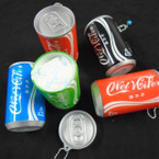 "IN STOCK 3.25"" Tall Soda Can Look Keychain  w/ Wet Wipes   .70 each"