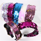 "1.6"" Sequin  Fashion Headbands Mixed Colors As Shown    .56 each"