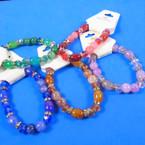 Colorful Oval & Crystal Bead Fashion Stretch Bracelets   .56 each