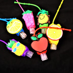 "3"" Mixed Fruit  Theme Scented Hand Santizers 12 per pk  @ .65 ea"