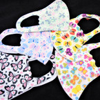 KIDS Face Masks Washable & Reusable w/ Butterfly Prints  $ 1.25  each