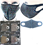 COMING SOON Fashion Face Mask Reusable w/ Loads of Acrylic Stones 12 per pk   $ 2.00  each